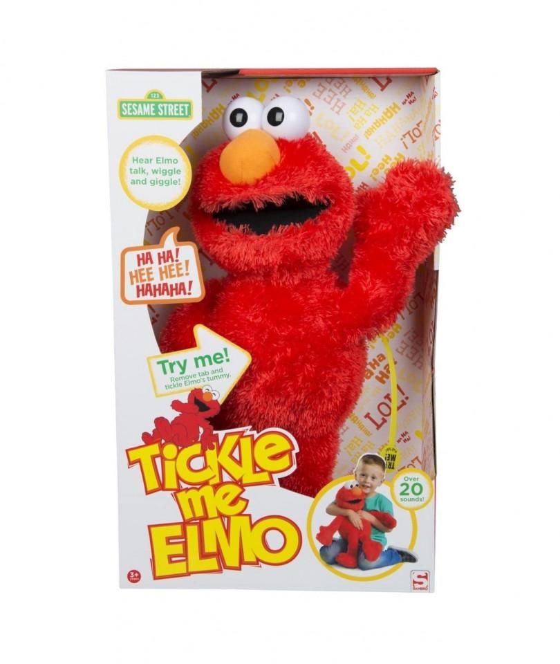 """Jucarie de plus Elmo """"Gadilici"""" 123 Sesame Street, peste 20 sunete de ras și fraze chilipirul-zilei 2021"""