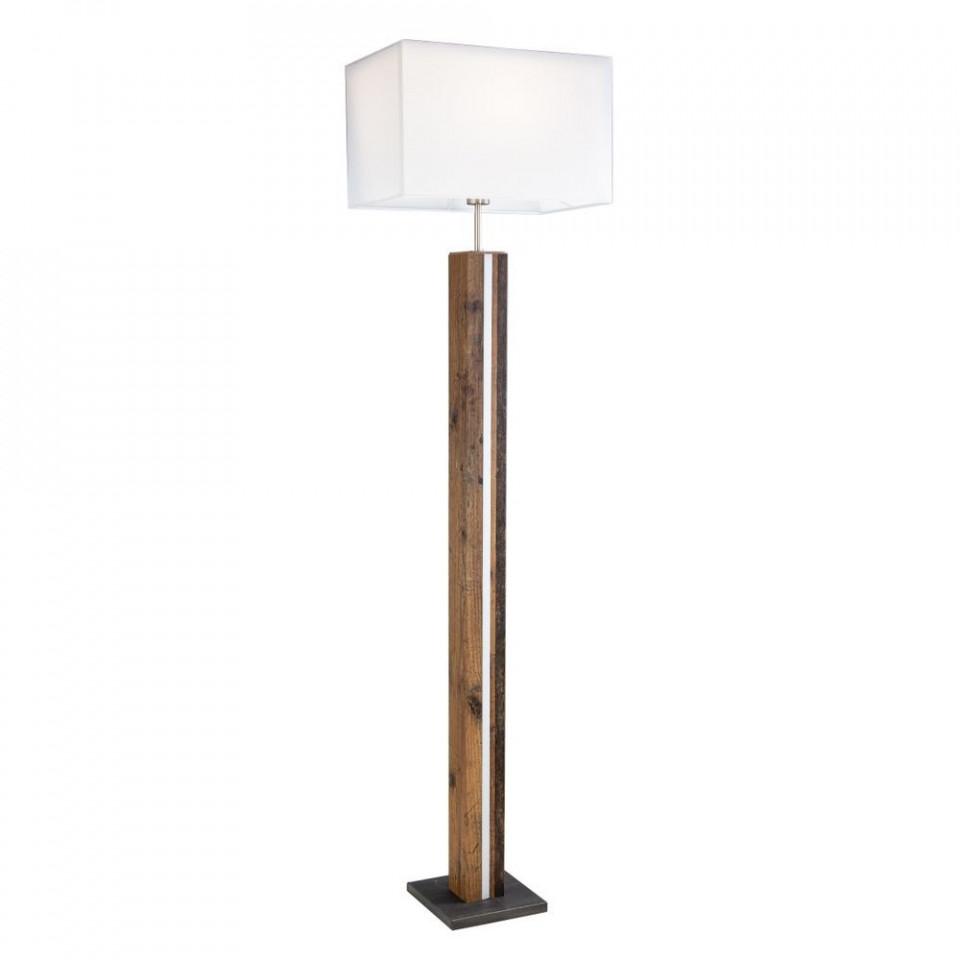 Lampadar, lemn/textil, maro/alb, 40 x 150 x 27 cm imagine 2021 chilipirul zilei