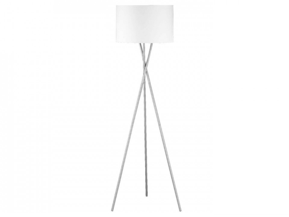 Lampadar Wotan, metal/textil, alb, 54 x 160 x 54 cm, 60w imagine
