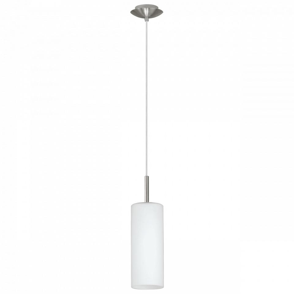 Lustra tip pendul Troy Elegance I, metal/sticla, alba, 10,5 x 110 cm, 60w imagine