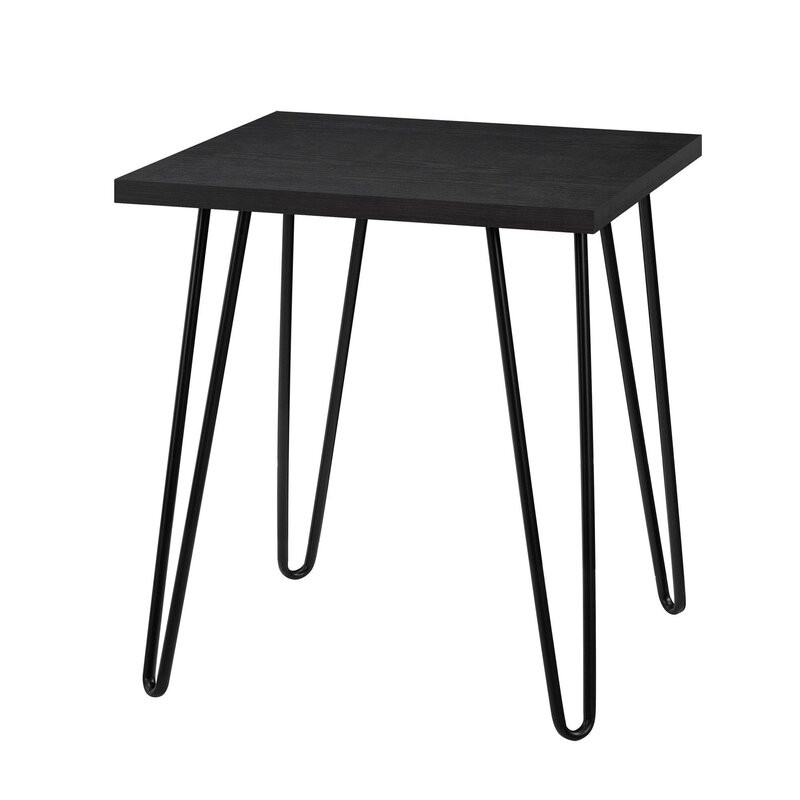 Masa laterala Acevedo, negru, 56 x 49 cm