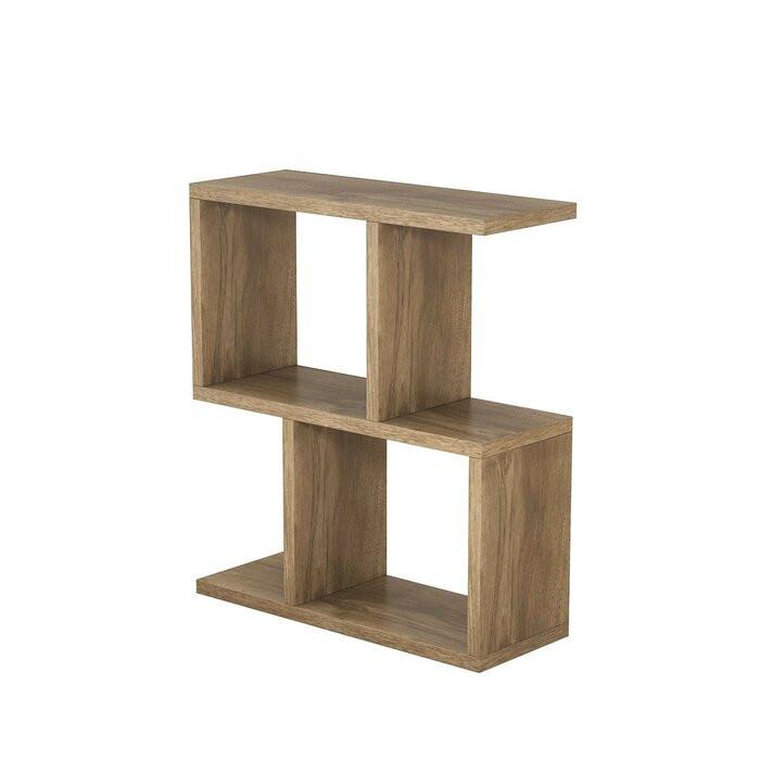 Masa laterală Carletta Zet, lemn, maro, 51 x 45 x 17 cm poza chilipirul-zilei.ro