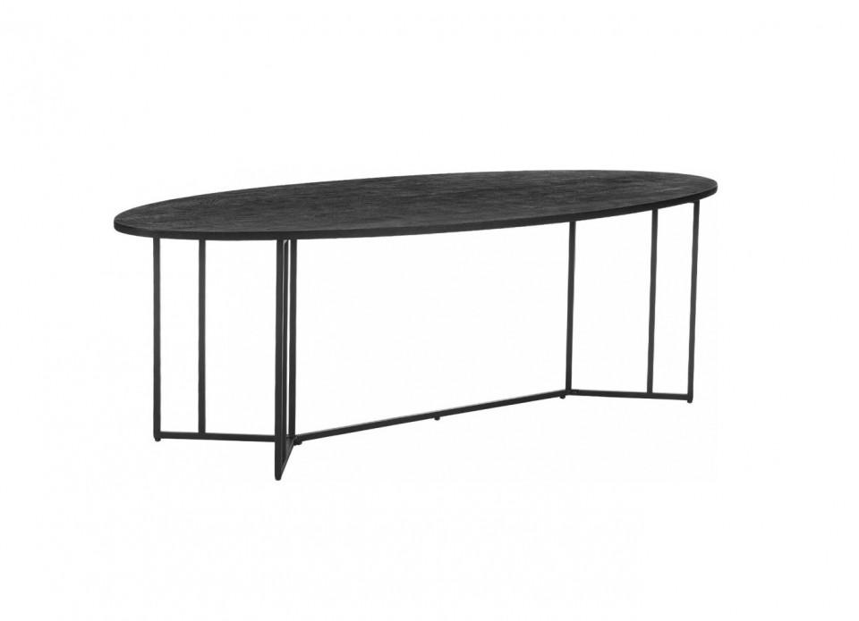 Masă ovală Luca, lemn/metal, neagra, 240 x 75 x 100 cm chilipirul-zilei 2021