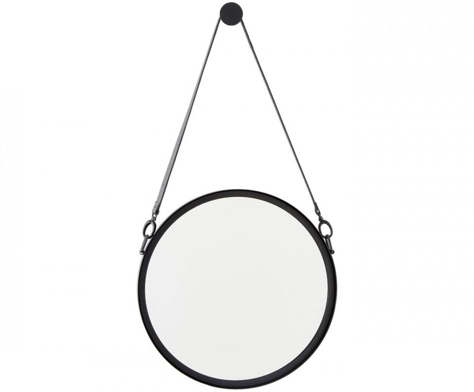 Oglindă de perete cu curea din piele Liz, negru imagine 2021 chilipirul zilei