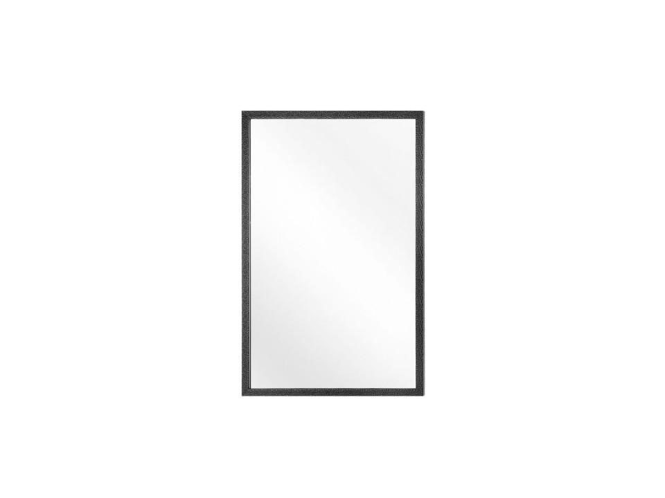 Oglinda de perete MORLAIX, sticla, neagra, 90 x 60 x 4 cm imagine 2021 chilipirul zilei