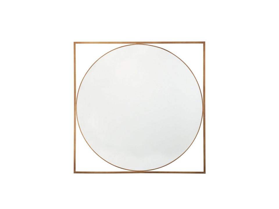 Oglinda de perete NIHOA, MDF, aurie, 76 x 76 x 2 cm imagine 2021 chilipirul zilei