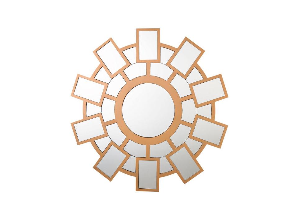 Oglindă de perete ROZEL, auriu, ø 80 cm chilipirul-zilei.ro