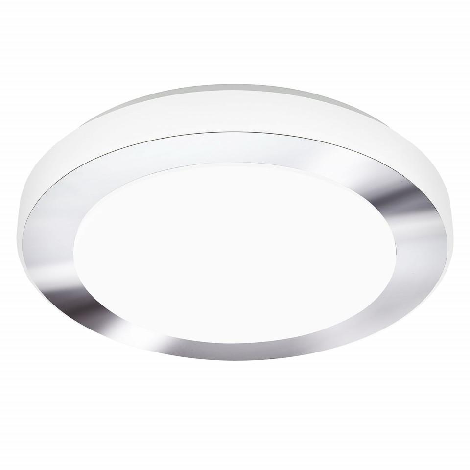 Plafoniera LED Carpi sticla acrilica/otel, 1 bec, argintiu, diametru 30 cm, 240 V