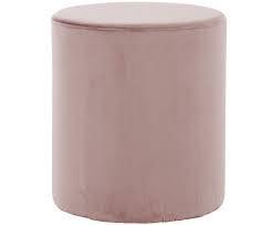 Puf Daisy din catifea roz, 38 x 45 cm