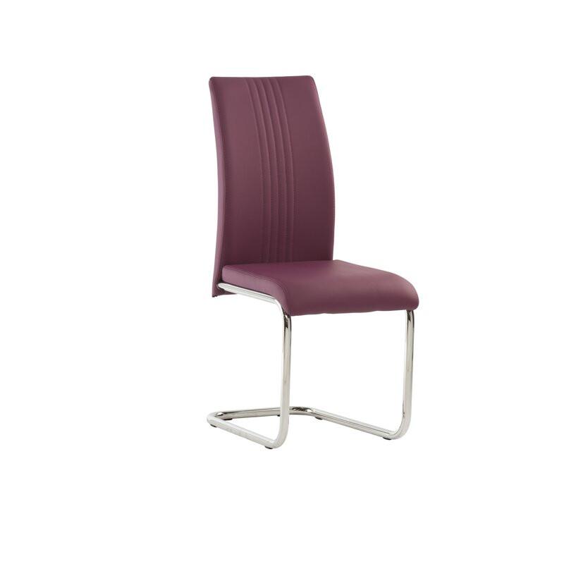 Scaun tapitat Larkson, violet, 100 x 44 cm