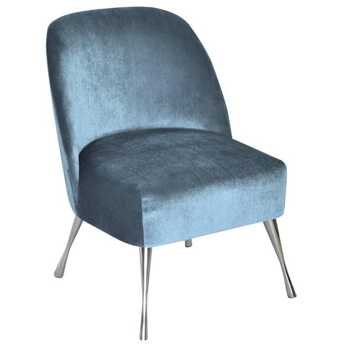 Scaun Vintage, MDF, albastru, 70 x 52 x 48 cm 2021 chilipirul-zilei.ro