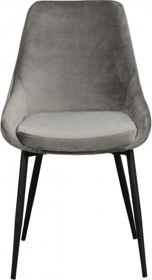 Set 2 scaune Sierra, tapițate, gri, 85 x 49 x 55 cm