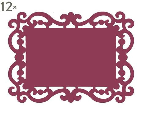 Set de 12 coastere Baroque bordeaux