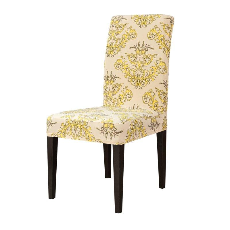 Set de 2 huse pentru scaun Abby, galben