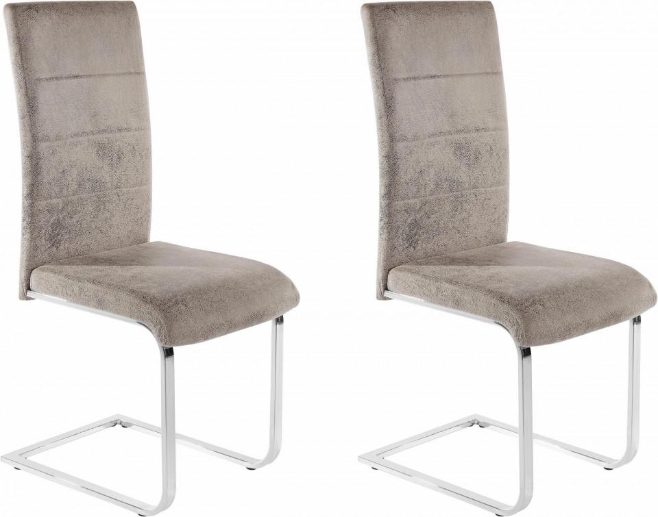 Set de 2 scaune COSY microfibra gri