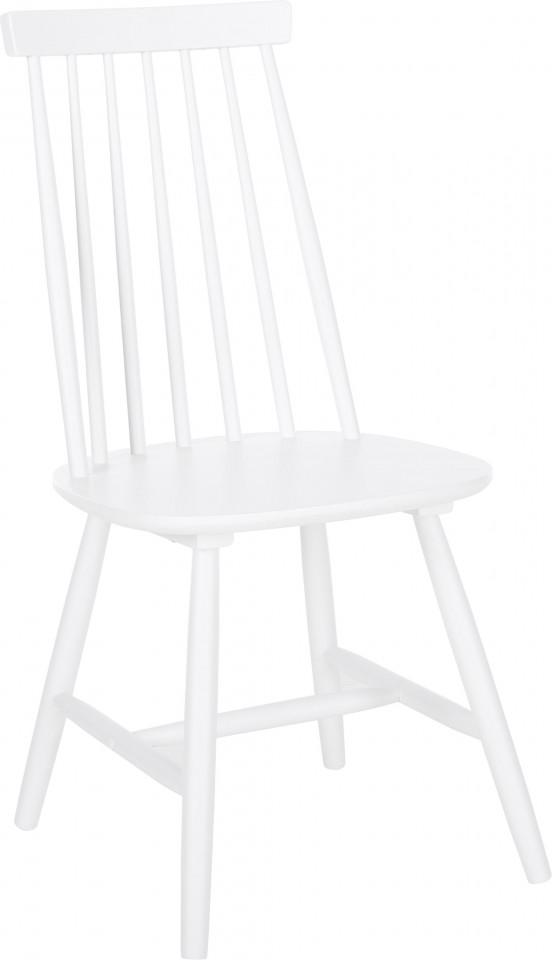 Set de 2 scaune din lemn Milas, alb