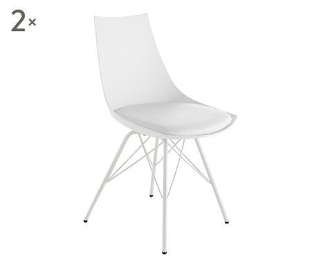 Set de 2 scaune Kiki albe
