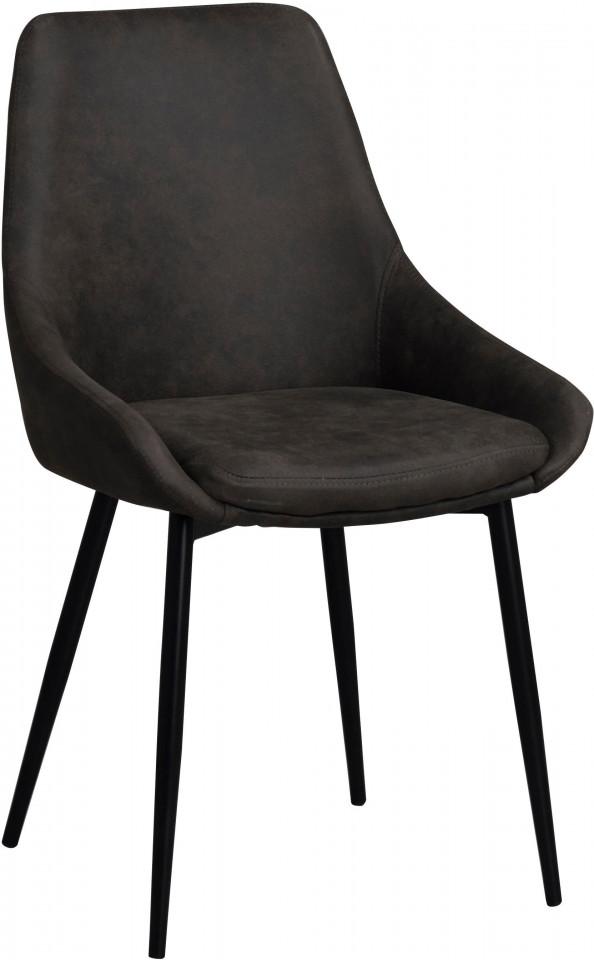 Set de 2 scaune Sierra, negre, 49 x 85 x 55 cm imagine 2021 chilipirul zilei