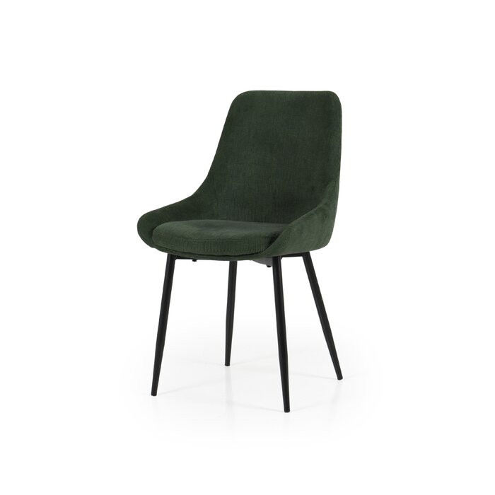 Set de 2 scaune tapitate Mankato, Verde, 85 x 48 x 55 cm imagine chilipirul-zilei.ro