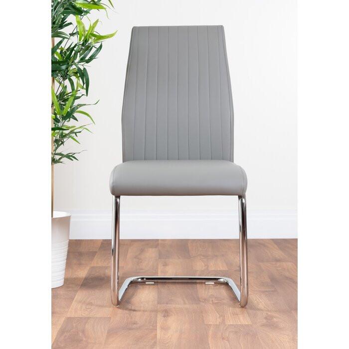 Set de 2 scaune tapitate Samirah, Gri, 97 x 43 x 57,5 cm