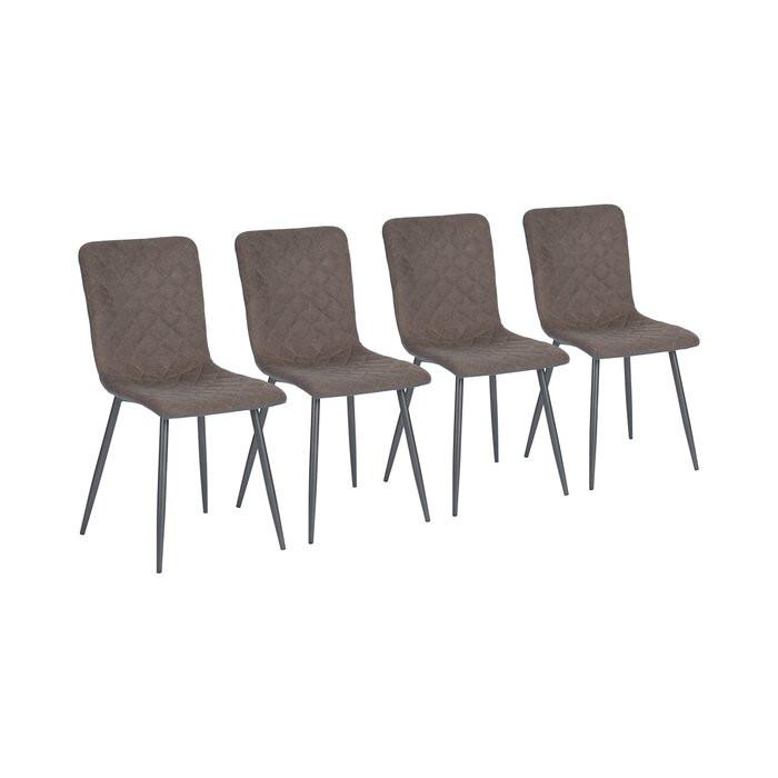 Set de 4 scaune Candelaria, maro/gri, 86,5 x 43 x 46,5 cm poza chilipirul-zilei.ro
