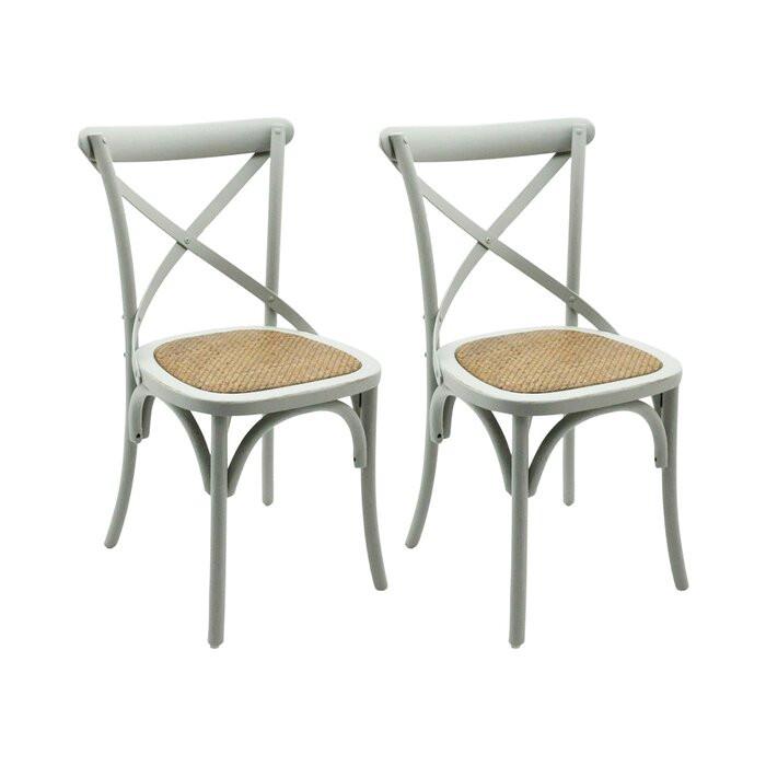 Set de 6 scaune Bistro, gri, 89 x 45 x 42cm