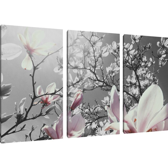 "Tablou ""Magnolie"", 3 piese, panza, 80 x 120 x 1,8 cm chilipirul-zilei 2021"