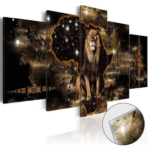 Tablou 'Golden Lion'', 50 x 100 cm poza chilipirul-zilei.ro