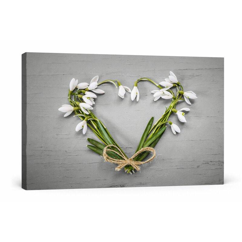Tablou Inima din Flori 60 x 80 x 1.8cm imagine chilipirul-zilei.ro
