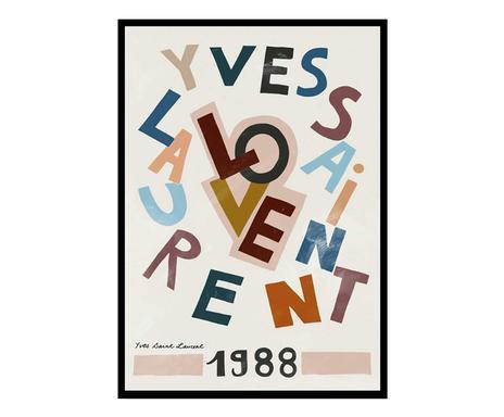 Tablou Yves Saint Laurent, 50 x 70 cm chilipirul-zilei 2021
