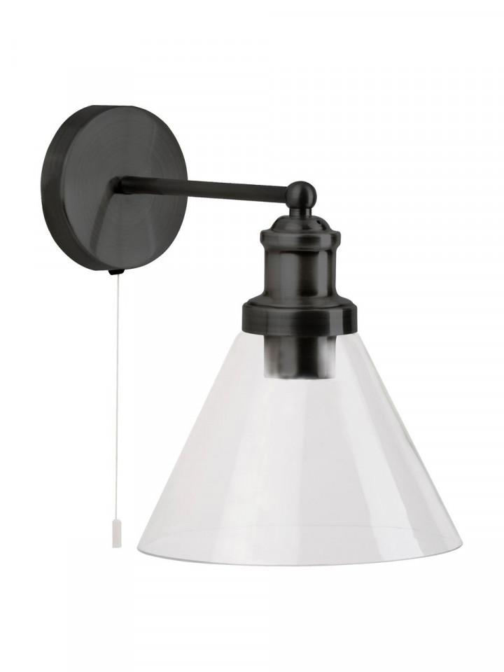 Aplica din metal, negru, 19 x 25 cm