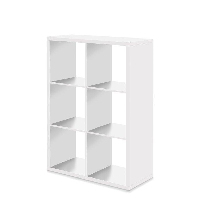Biblioteca Delong din lemn, alb, 107 x 73 cm