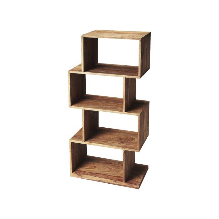 Bibliotecă Goran, lemn masiv, maro, 121 x 55 x 30 cm chilipirul-zilei.ro