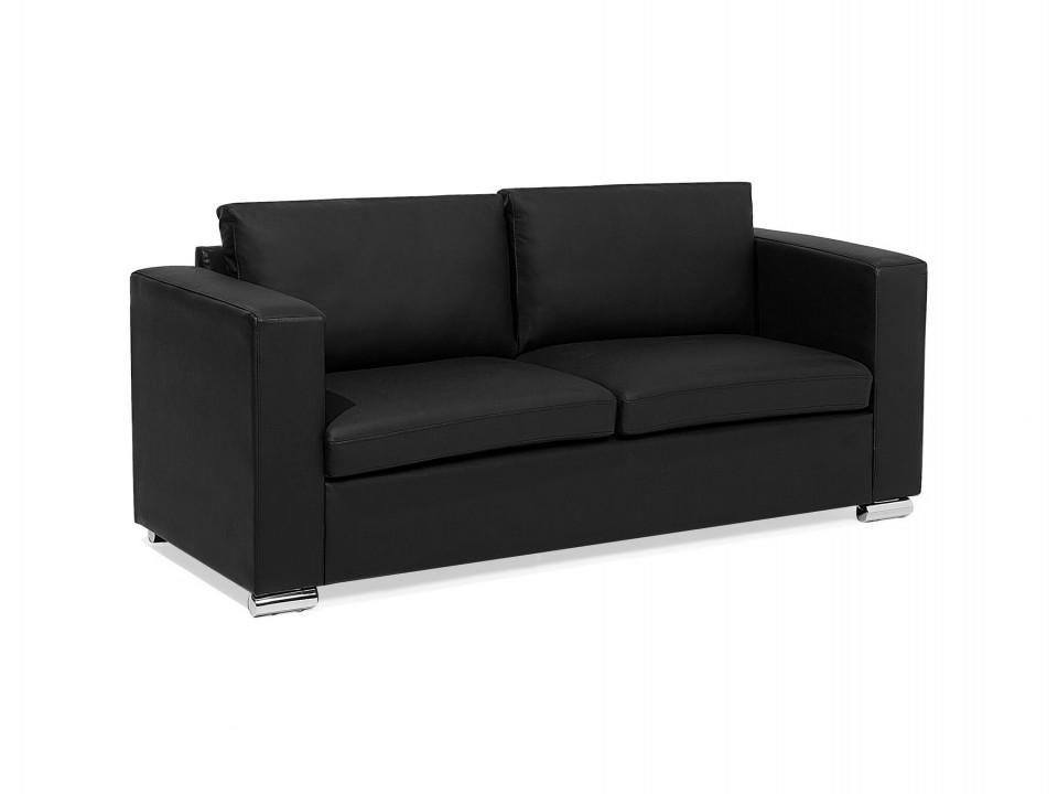 Canapea 3 locuri HELSINKI, piele naturala, neagra title=Canapea 3 locuri HELSINKI, piele naturala, neagra