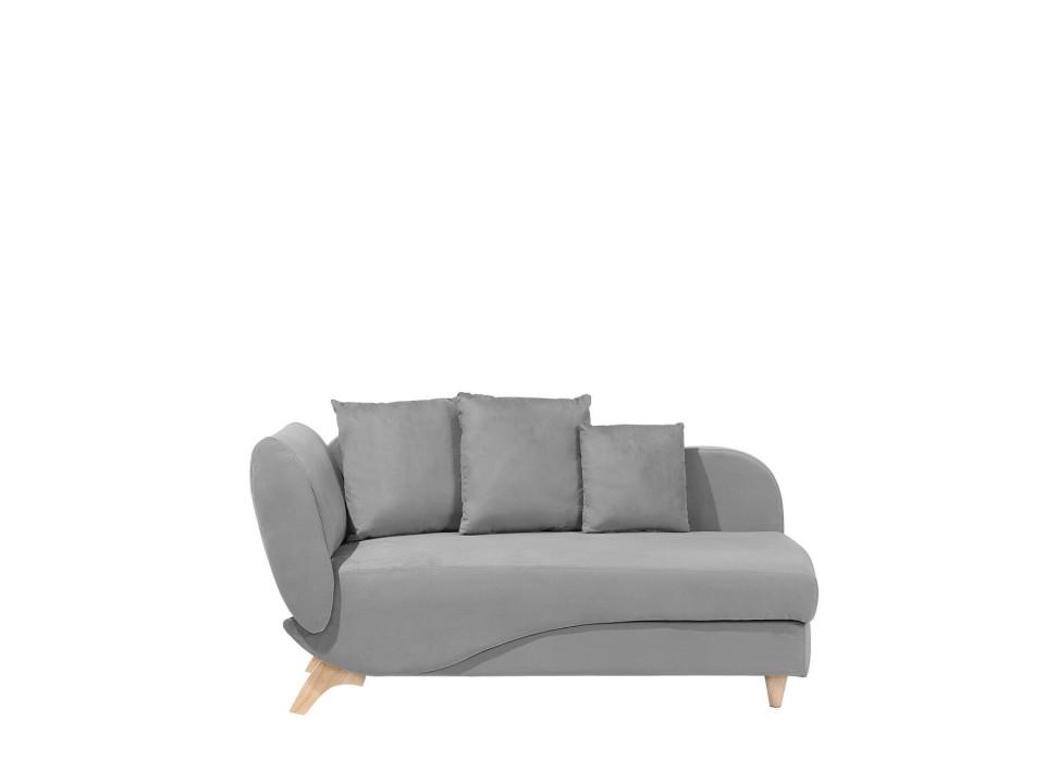 Canapea MERI, catifea, gri deschis, 156 x 72 x 77 cm imagine 2021 chilipirul zilei