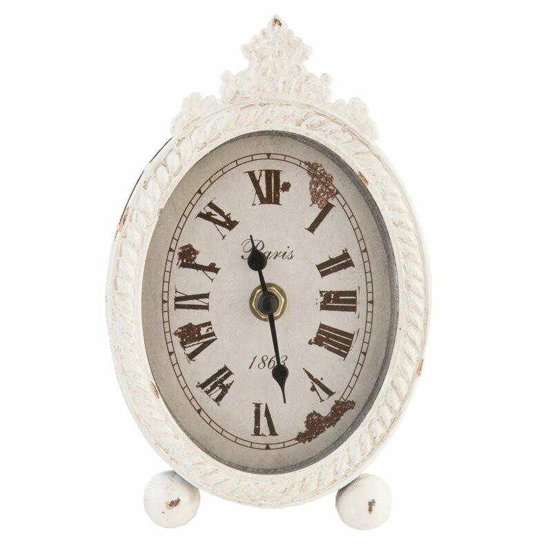 Ceas de masă, alb, 18 x 11 x 3cm imagine 2021 chilipirul zilei