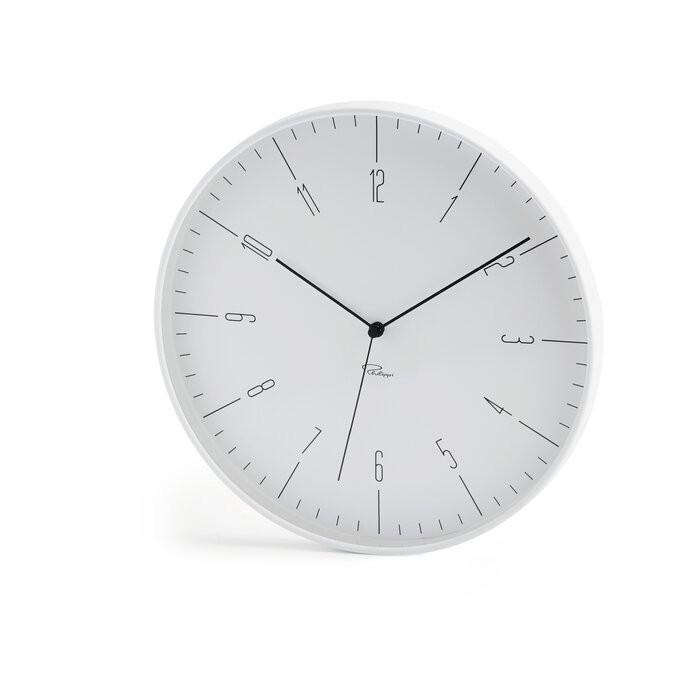 Ceas de perete Cara, metal, alb, 30 x 30 x 3,8 cm