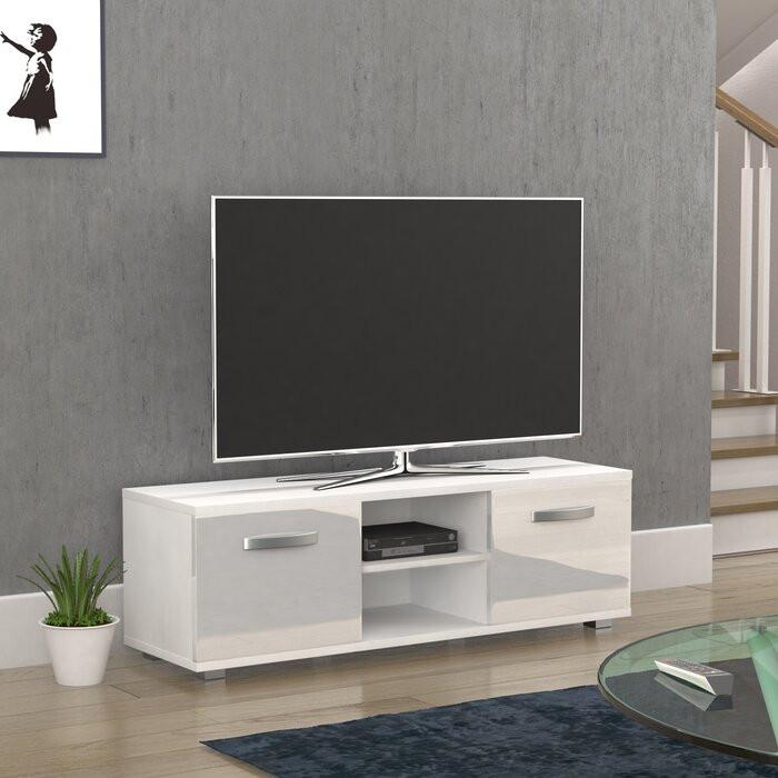 Comodă TV Blakely, alb, 120 x 34 x 40 cm