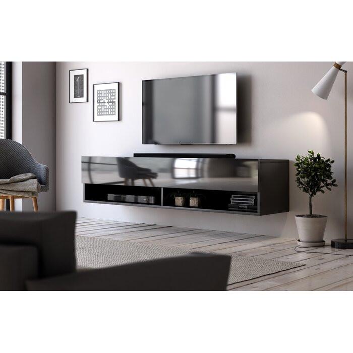Comoda TV Wescott, PAL/MDF, neagra, 140 x 30 x 31 cm