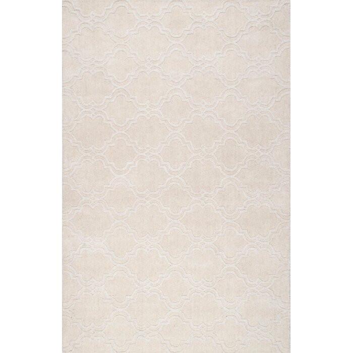 Covor Alonza, lana, crem, 229 x 290 cm