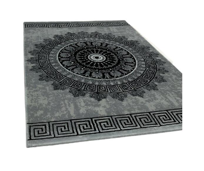 Covor Burslem, negru/ gri, 80 x 300 cm poza chilipirul-zilei.ro