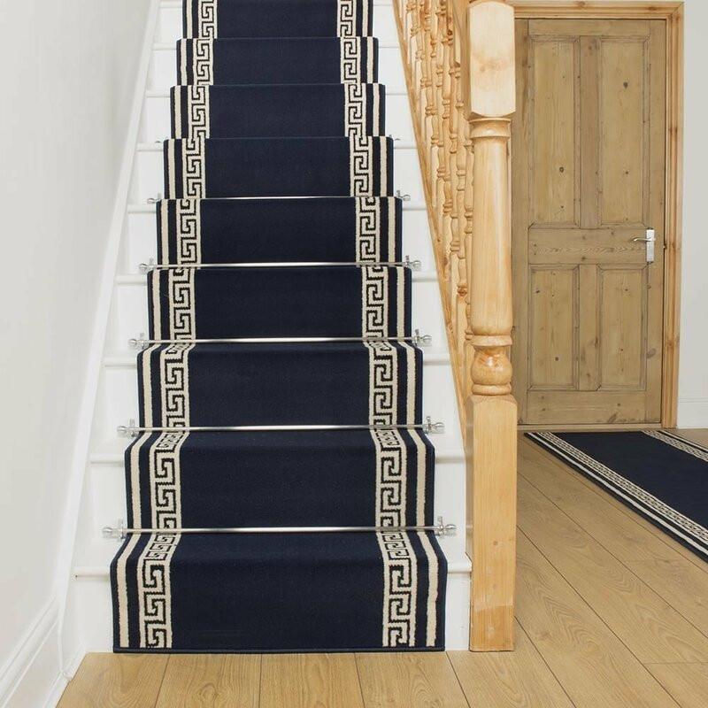 Covor pentru scări Almon, albastru, 60 x 450cm