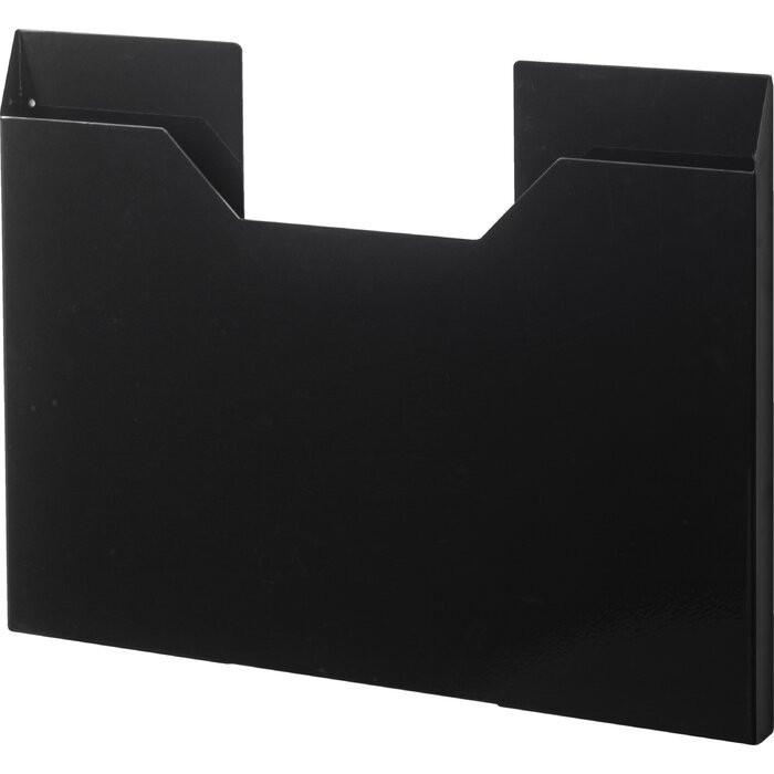Cutie de depozitare, otel inoxidabil, neagra, 37 x 51 x 3 cm chilipirul-zilei.ro