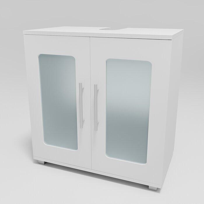 Dulap de baie Vetter, MDF/PAL, alb, 60 x 58 x 33 cm