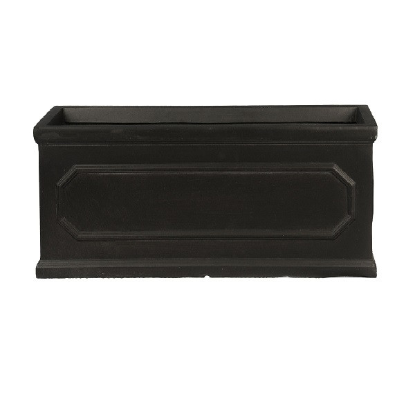 Jardiniera Heritage, negru, 22 x 60 cm poza chilipirul-zilei.ro