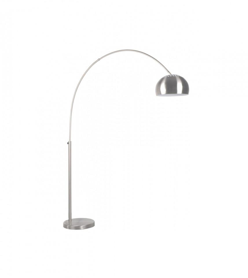 Lampadar, metal, argintiu, 170 x 205 x 39 cm