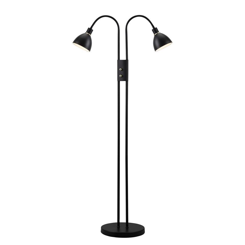 Lampadar Ray VI otel, negru, 2 becuri, 230 V