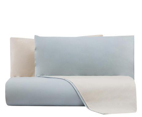 Lenjerie de pat cu husa pentru pilota Naturale bifaccia gri perla, matrimoniala