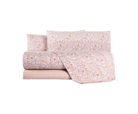 Lenjerie de pat in stil italian Ippolita rosa, matrimonial