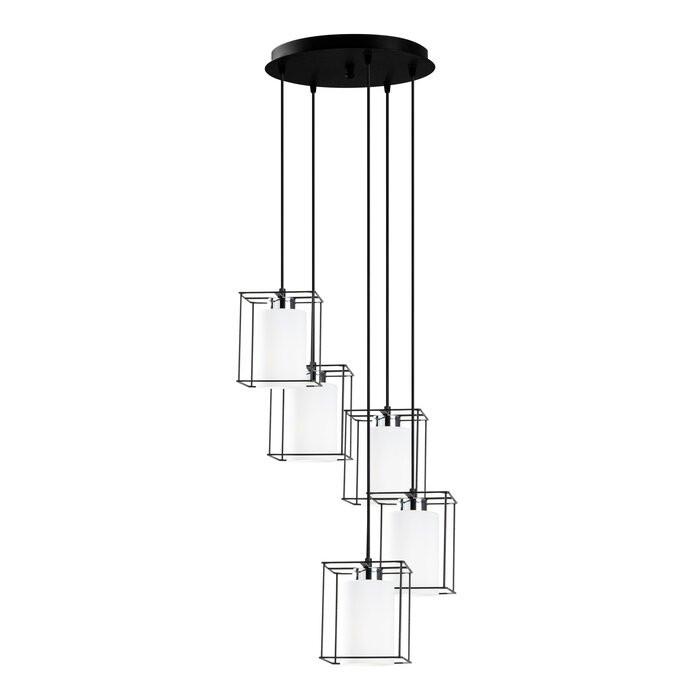 Lustra tip pendul Acosta-Carrero, metal/sticla, neagra, 17 x 40 x 40 cm, 100w